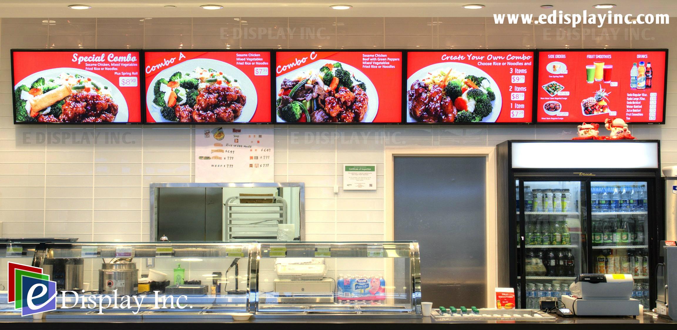 Menu For Olive Garden: Digital Menu Boards