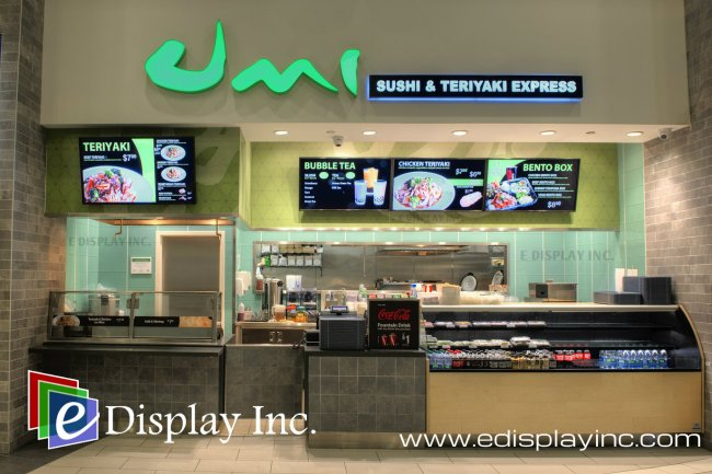 Digital Menu Boards By E Display for Umi Sushi