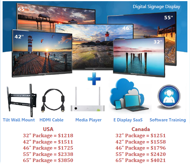 e display small business package