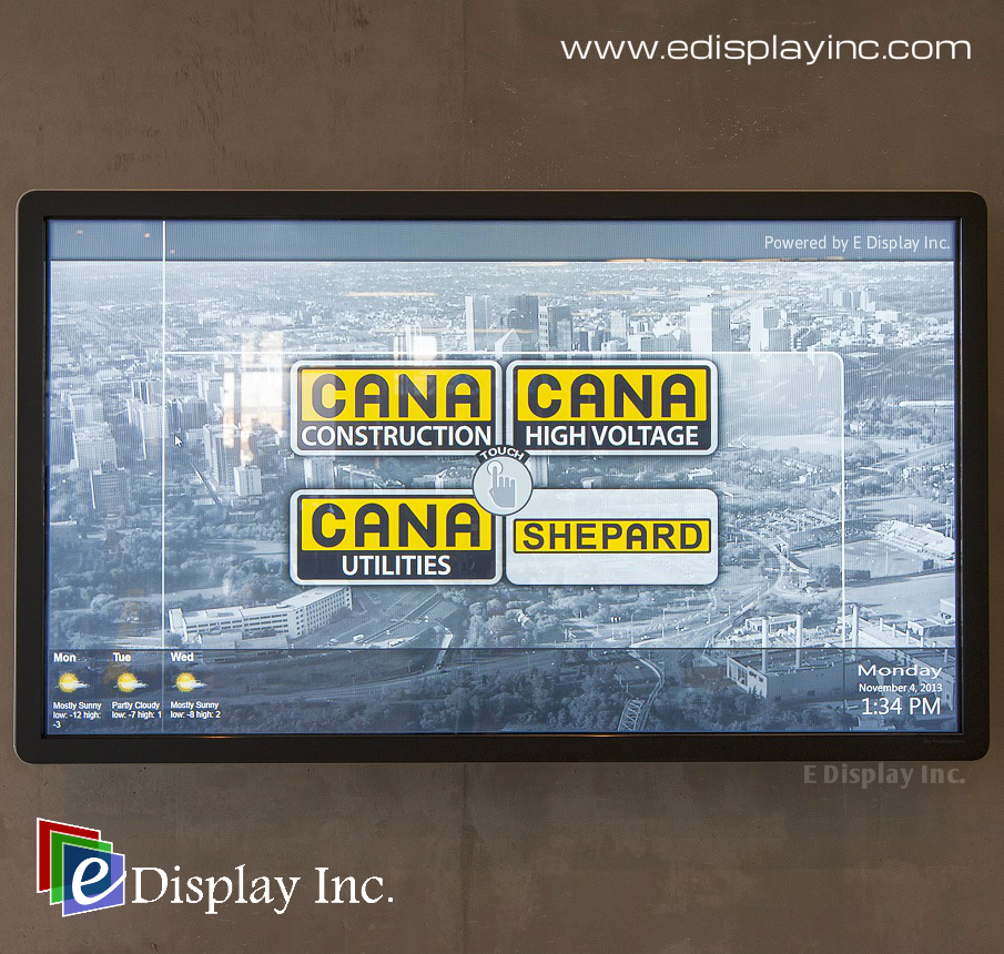 Interactive Touch Screen Solution for CANA by E Display 1