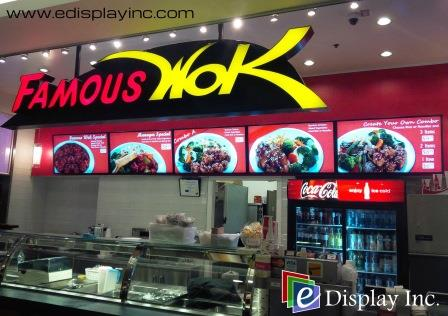 Famous Wok Digital Menu Boards by E Display Inc