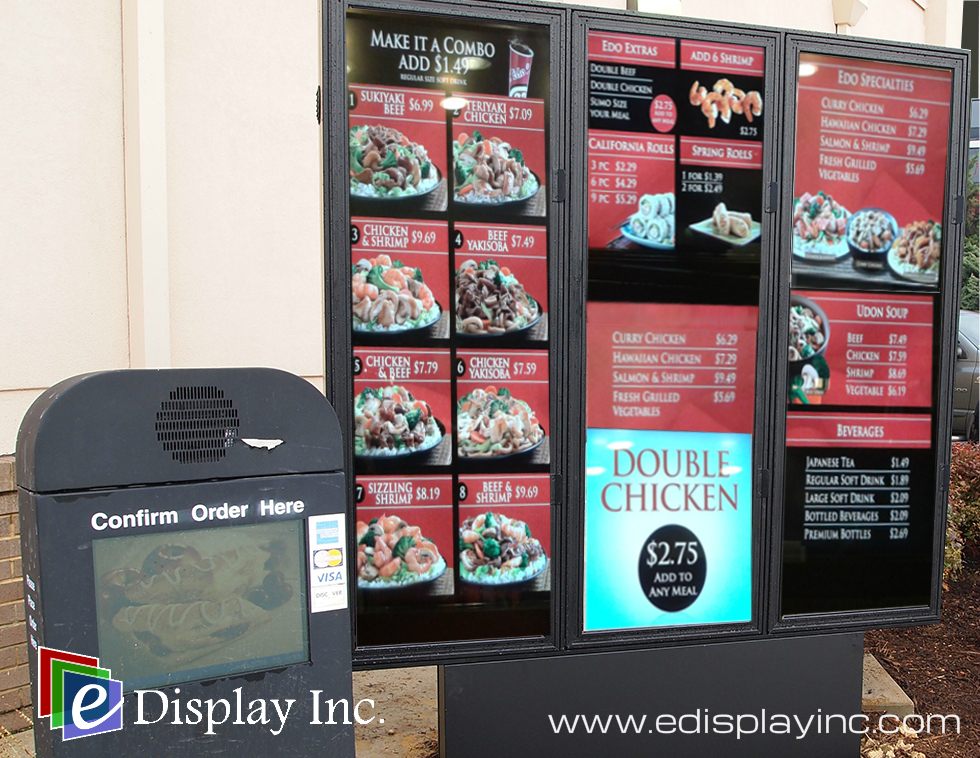 E Display Drive-Thru Digital Menu