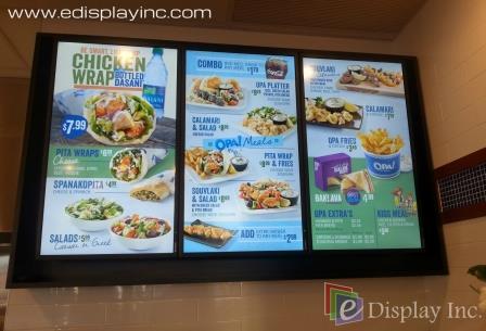 E Display Digital Menu for OPA- County Hills