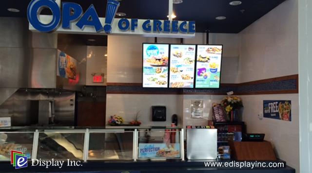 E Display Deploys Digital Menu Boards at OPA! Medicine Hat Hall in Medicine Hat, Alberta